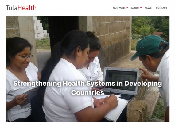 Thumbnail screenshot of TulaHealth website home page.