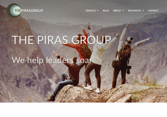 Thumbnail screenshot of The Piras Group website home page.