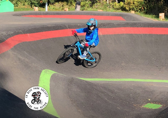 Thumbnail screenshot of Campbell River Bike Park Society website home page.