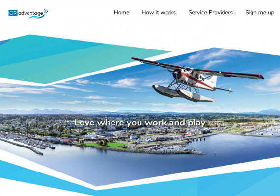 Thumbnail screenshot of CRadvantage - City of Campbell River website home page.