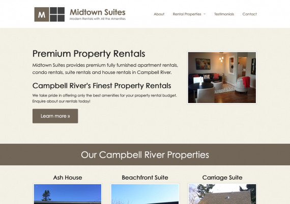 Thumbnail screenshot of Midtown Suites website home page.