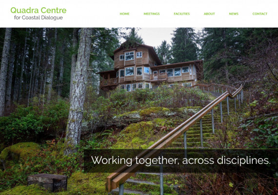 Thumbnail screenshot of Quadra Centre for Coastal Dialogue website home page.